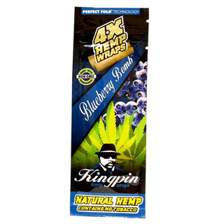 Wrap Kingpin Hemp Blueberry Bomb 4pk SW030