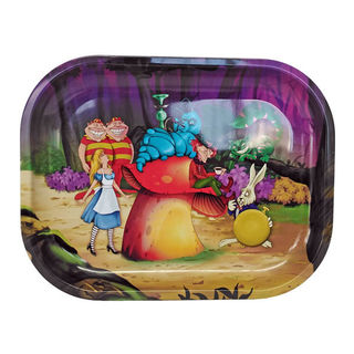 Rolling Tray Metal 180x140mm Alice Mushrooms MH516