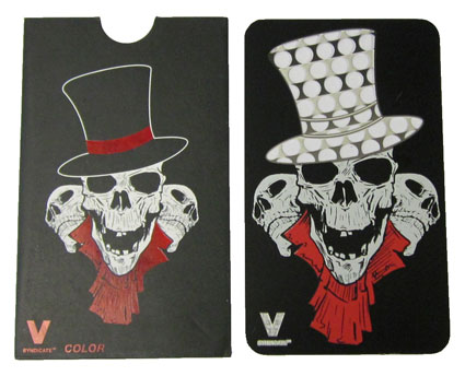 Grinder Card Skull in Top Hat