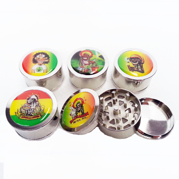 Grinder Metal Rasta 3pce No Lip MO265