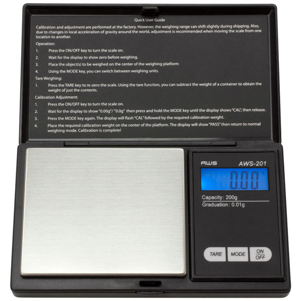 Scales AWS-201 200g x 0.01g Black SC150