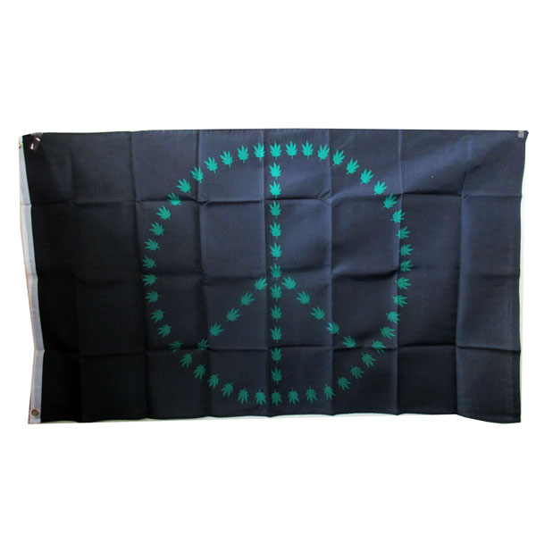 Flag Peace Leaf 3x5 EOL