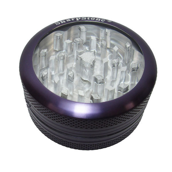 Grinder Sharpstone 2pce Clear Top Purple 55mm MO188C