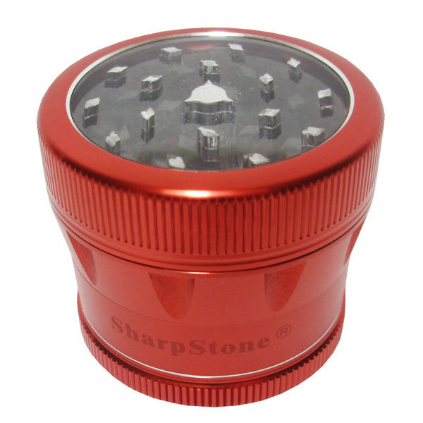Grinder Sharpstone v2.0 Clear Top 55mm 4pce Red MO202