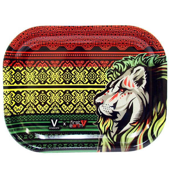 Rolling Tray Metal 180x140mm Rasta Lion MH507