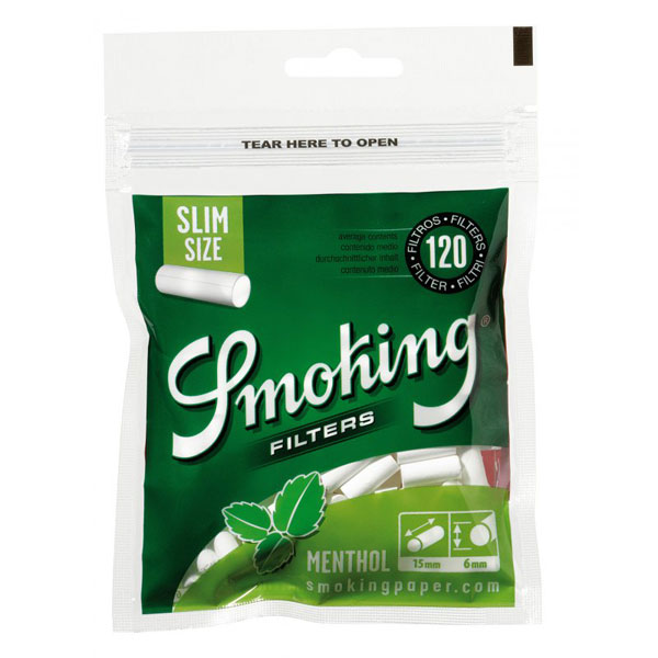 Filters Smoking Menthol Slim 120pcs HC095