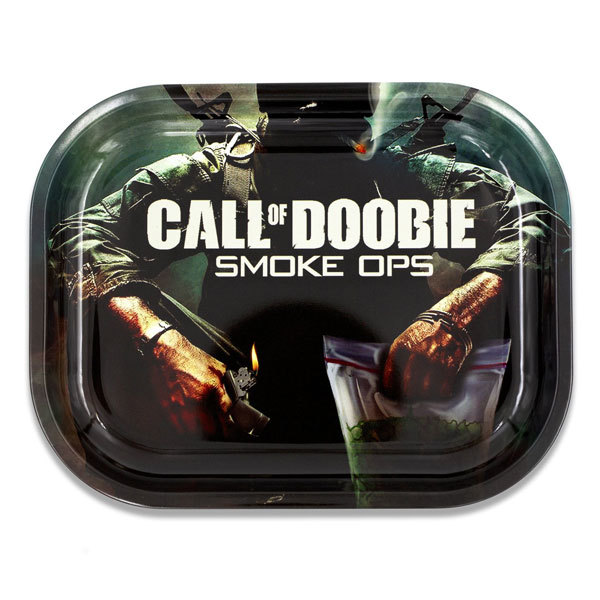 Rolling Tray Metal 180x140mm Call of Doobie MH511
