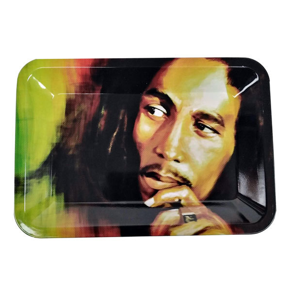Rolling Tray Metal 180x120mm Bob Marley Face MH520