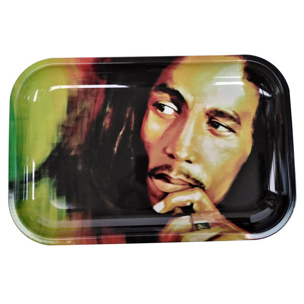 Rolling Tray Metal 290x190mm Bob Marley Face MH521