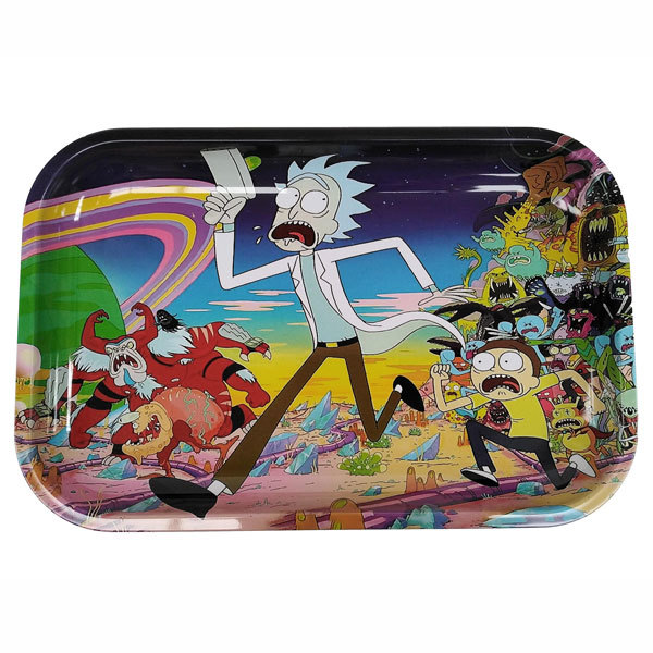 Rolling Tray Metal 290x190mm Rick and Morty Running MH527
