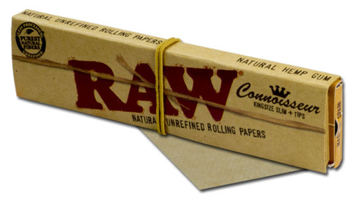 716165174011 Papers Raw King Size W Tips Connoisseur
